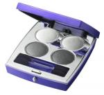 Purple Dew oční stíny - kouřově šedá 4x2g