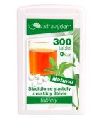 Stevia nekalorické přírodní rostlinné sladidlo - 300 tablet - 18g